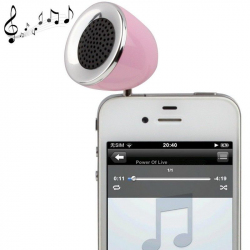 Mini enceinte portable jack 3.5 MP3 Smartphone Tablette Rose - Enceinte portable - www.yonis-shop.com