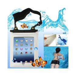 Housse étanche universelle iPad Galaxy tab waterproof 10 pouces Blanc