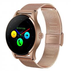 Smartwatch Bluetooth 4.0 Montre connectée Sport Métal Élégant Cardio Fréquence Appel SMS Twitter Or Rose - Montre connectée -...