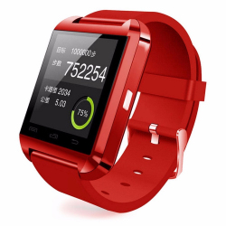 Montre connectée smartwatch Bluetooth Android écran tactile Rouge