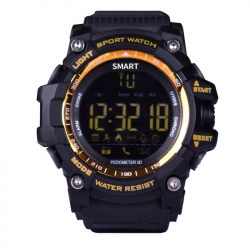 Montre connectée sport Ecran LCD IP67 50M Professionnel Cadran Orange - Montre connectée - www.yonis-shop.com
