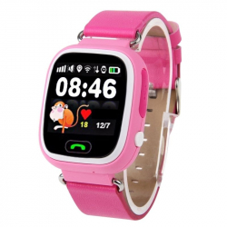 Traceur GPS Enfant iPhone Android LBS Appel Geolocalisation WiFi Rose - Montre connectée - www.yonis-shop.com
