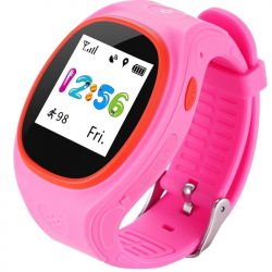 "Traceur GPS Enfant iPhone Android LBS 1.22\"" 2G Surveillance Appel Rose - Montre connectée / Smartwatch - www.yonis-shop.com"