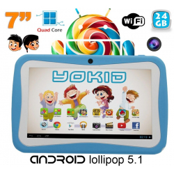Tablette tactile enfant YOKID quad core 7 pouces Android 5.1 Bleu 24Go - Tablette tactile enfant - www.yonis-shop.com