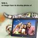 Cadre Photo Lecteur Multimédia 13 Pouces Affichage LED Numérique Musique Vidéo Contrôle Distance USB SD MS MMC Noir - Cadre p...