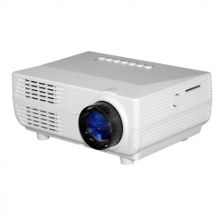 Mini Vidéoprojecteur Portable 150 Lumens LED Distance Projection 1 À 5 mètres HDMI USB VGA SD Blanc - Videoprojecteur - www.y...