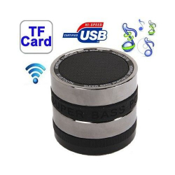Mini enceinte bluetooth universelle kit mains libres basse Noir - Mini enceinte Bluetooth - www.yonis-shop.com