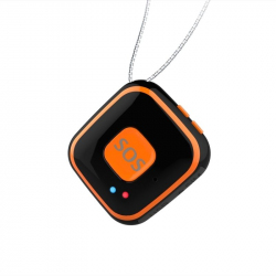 Mini Traceur Compatible Android iOS GPS Collier GSM Quadri-Bande Wifi AGPS Bouton SOS Chute Noir - Traceur GPS - www.yonis-sh...