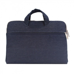 Sacoche Ordinateur 15 Pouces Housse Macbook PC Portable Antichoc Denim