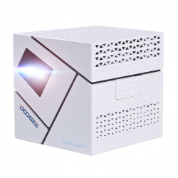 [HK Stock] DOOGEE Smart Cube P1 Mini WiFi Smart DLP Projecteur, Android 4.4, Amlogic Quad Core, 70 Lumen, Rapport de... - Vid...