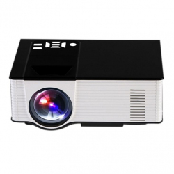 Vidéoprojecteur Portable Android 4.4 Projecteur Multimédia LED 1500 LM Quad-Core 8 Go ROM FLASH 1 Go RAM Blanc