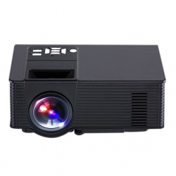 Vidéoprojecteur Portable Android 4.4 Projecteur Multimédia LED 1500 LM Quad-Core 8 Go ROM FLASH 1 Go RAM Noir