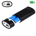 Boitier Batterie Externe Power Bank 2 x Pile 18650 (Non inclus) 5600 mAh Port USB Noir - Batterie externe - www.yonis-shop.com