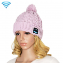 Bonnet Connecté Android iOS Ecouteur Bluetooth Appel Mains Libres Rose
