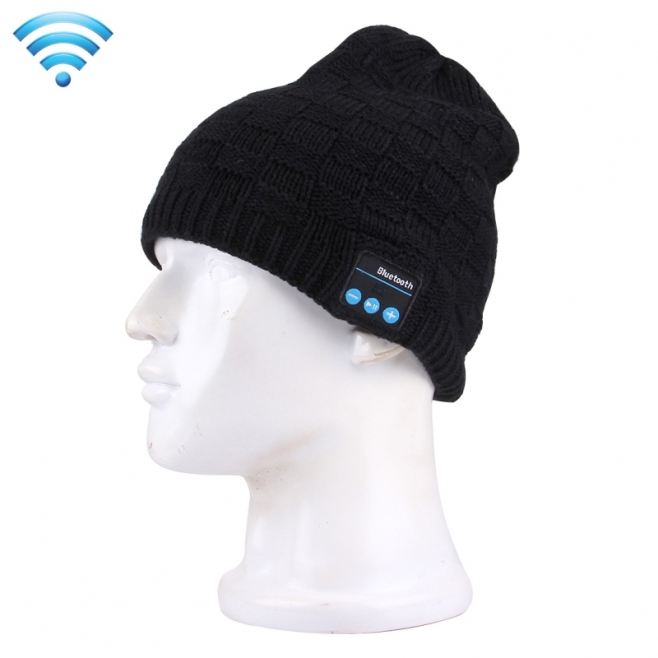 Bonnet Bluetooth Connecté iOS Android Ecouteur Sans Fil Unisexe Noir - Bonnet Bluetooth - www.yonis-shop.com
