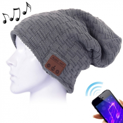 Bonnet Bluetooth iOS Android Casque Audio Connecté Unisexe Gris foncé - Bonnet Bluetooth - www.yonis-shop.com
