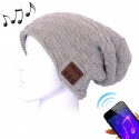 Bonnet Bluetooth iOS Android Casque Audio Sans Fil Micro Intégré Gris - Bonnet Bluetooth - www.yonis-shop.com