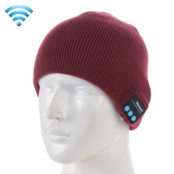 Bonnet Bluetooth iPhone Android Casque Audio Sans Fil Rouge Bordeaux