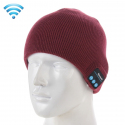 Bonnet Bluetooth iPhone Android Casque Audio Sans Fil Rouge Bordeaux -  - www.yonis-shop.com