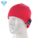 Bonnet Connecté Compatible iOS Android Ecouteur Bluetooth USB Magenta