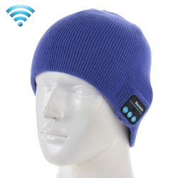 Bonnet Bluetooth Android iOS Ecouteur Sans Fil Fonction Appels Bleu - Bonnet Bluetooth - www.yonis-shop.com