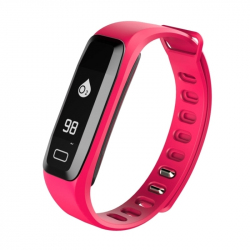 Bracelet Cardio Android iPhone Montre Connecté Sport Waterproof Rose - Bracelet connecté - www.yonis-shop.com