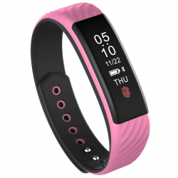 Smart Watch Android Ios Bracelet Sport Waterproof Anti-Poussière Rose