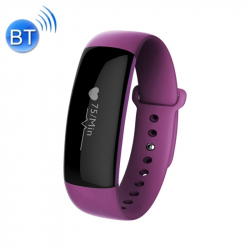 Bracelet Cardio iPhone Android Montre Sport IP67 Calories SMS Violet