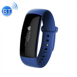 Montre Cardio Android iOS Waterproof Bracelet Connecté Podomètre Bleu