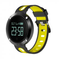 Montre Connectée Sport IP68 Bluetooth Bracelet Podomètre Capteur de Fréquence Cardiaque Jaune - Montre connectée - www.yonis-...
