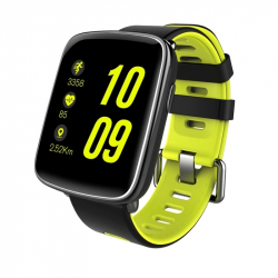 Montre intelligente Fitness Smartwatch Connectée Android iOS Tactile Bluetooth V4.0 IP68 Jaune - Montre connectée - www.yonis...