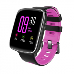 Montre intelligente Fitness Smartwatch Connectée Android iOS Tactile Bluetooth V4.0 IP68 Rose