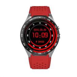 Montre téléphone Connecte GPS IOS Android Smartwatch Cardiofrequencemetre Rouge - Montre connectée - www.yonis-shop.com