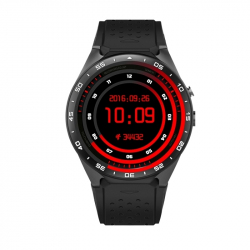 Montre Connecte Android iPhone Smartwatch GPS Wifi Podomètre Noir - Montre connectée / Smartwatch - www.yonis-shop.com