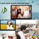 Cadre Photo Numérique LED 13 Pouces HD 16:9 Port USB Carte SD MP3 MP4 - Cadre photo numérique 13 pouces - www.yonis-shop.com