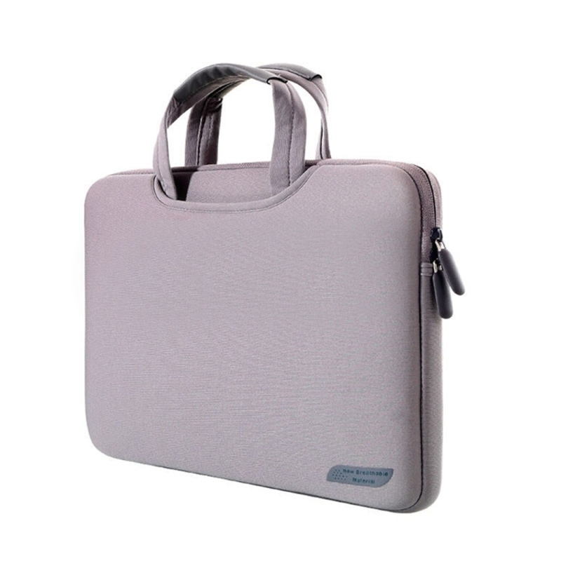 sacoche pc 15 4 pouces housse ordinateur portable macbook etanche gris. Black Bedroom Furniture Sets. Home Design Ideas