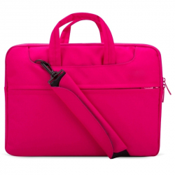 "Sacoche PC Portable 15.4"" Pochette Ordinateur Macbook Antichoc Rose"