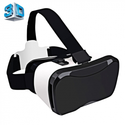 """Casque VR Smartphone Android iPhone 4-6.3"""" Casque 3D Vision 100° Blanc"""