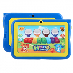 Tablette Pour Enfant 7 pouces Tactile Android Quad Core Wifi Bluetooth 8Go Bleu - Tablette tactile enfant - www.yonis-shop.com