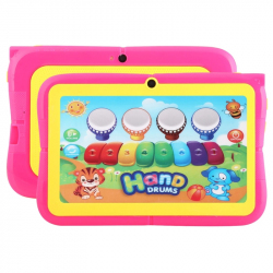 Tablette Educative Android 7 pouces Quad Core WiFi Contrôle parental 8Go Rose - Tablette tactile enfant - www.yonis-shop.com