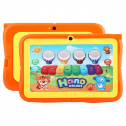 Tablette Enfant 7 pouces Educative Android CPU Quad Core Bluetooth 8Go Orange - Tablette tactile enfant - www.yonis-shop.com