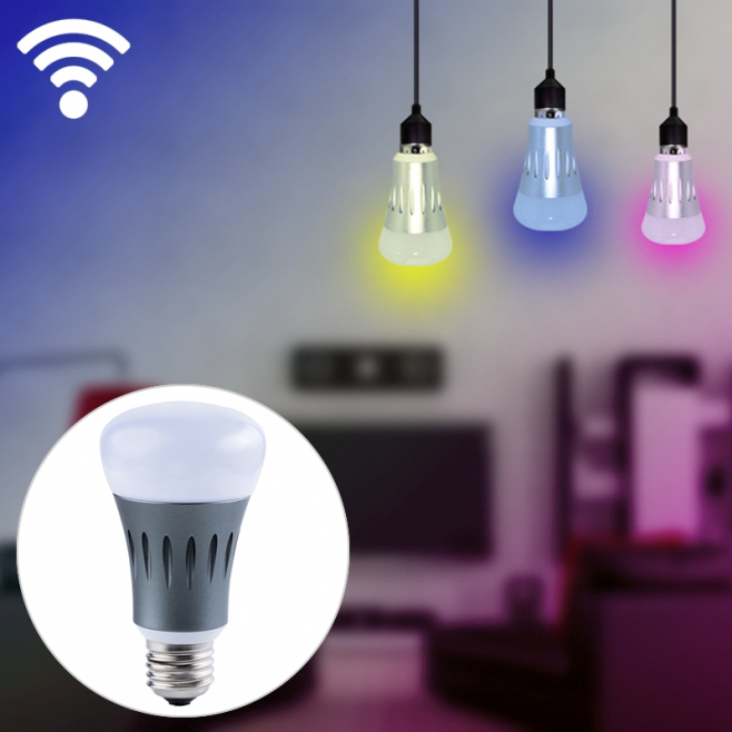 Ampoule Connectée Google Home Alexa LED 7 W Android iOS Lampe Multicolore RGB Wifi