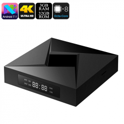 Box Android Full HD 4K Boitier Multimedia HDMI Bluetooth WiFi 3GB RAM