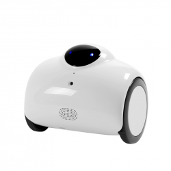 Mini Robot Android iOS Wifi Camera IP HD 720p 4400 mAh Jouet Interactif Microphone Blanc