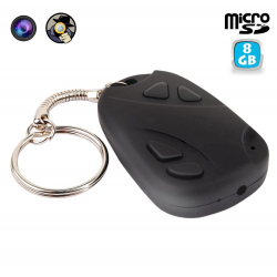 Porte clés camera espion mini appareil photo USB Micro SD 8 Go