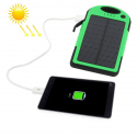 Batterie Externe 5000 mAh Solaire Antichoc Waterproof Power Bank Universelle Smartphone Tablette Vert - Batterie externe - ww...