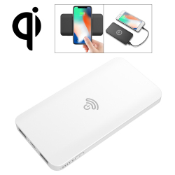 HAMTOD HS1 Portable Intelligent Qi Standard Wireless Charger / Power Bank, Support Fast Charging, For iPhone, Galaxy, Huawei,...