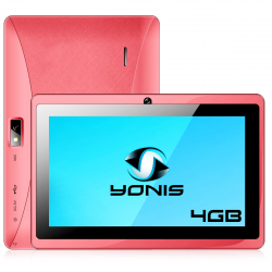 Tablette 7 pouces Android Quad Core Bluetooth Wifi Micro SD 4Go Rose - Tablette tactile 7 pouces - www.yonis-shop.com