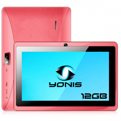 Tablette 7 pouces Android Quad Core Bluetooth Wifi Micro SD 12Go Rose - Tablette tactile 7 pouces - www.yonis-shop.com