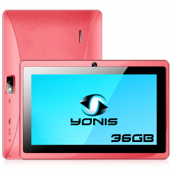 Tablette 7 pouces Android Quad Core Bluetooth Wifi Micro SD 36Go Rose - Tablette tactile 7 pouces - www.yonis-shop.com